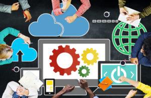 Cloud Computing Network Online Internet Storage Concept